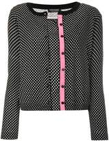 Twin-Set polka dot knit cardigan style sweater