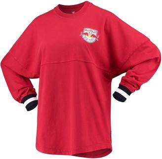 Women's Fanatics Branded Red New York Red Bulls Cuffed Spirit Jersey Long Sleeve T-Shirt