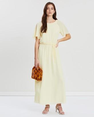 Mng Long Textured Dress