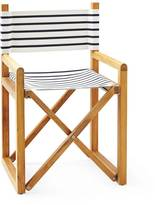 Serena & Lily Navy White Striped Director's Chair Classic