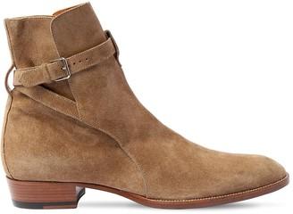 Saint Laurent 30mm Wyatt Suede Boots
