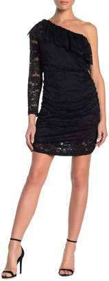Ontwelfth Ruffled One-Shoulder Lace Dress