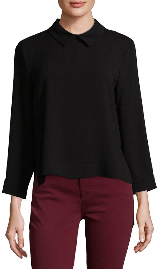 BCBGMAXAZRIA Cecil Collared Top