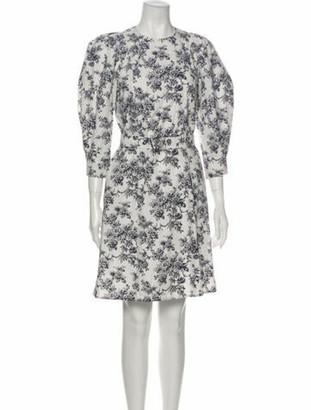 Jason Wu Floral Print Knee-Length Dress Blue