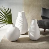 west elm Oversized Pure White Ceramic Vases
