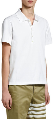 Thom Browne Men's Relaxed-Fit Polo Shirt