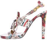 Proenza Schouler Embossed Multistrap Sandals