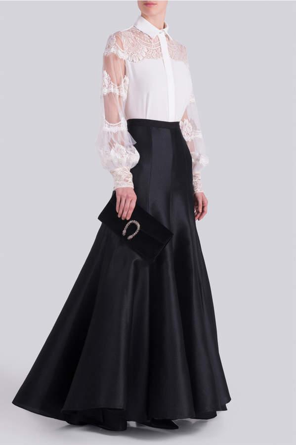 Alexis Mabille Long Pique Skirt