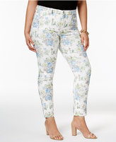 Charter Club Plus Size Bristol Jacquard Skinny Jeans, Only at Macy's
