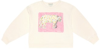 Gucci Kids Printed cotton-jersey sweatshirt