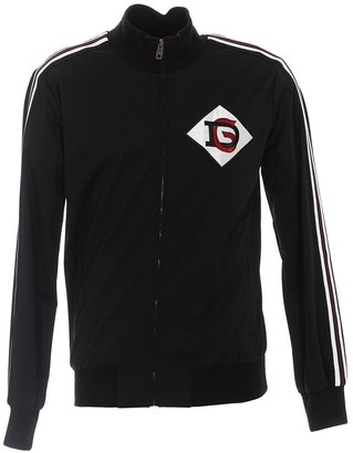 Dolce & Gabbana Side Striped Logo Patch Jacket