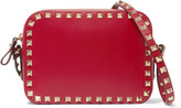 Valentino The Rockstud Leather Shoulder Bag - Red
