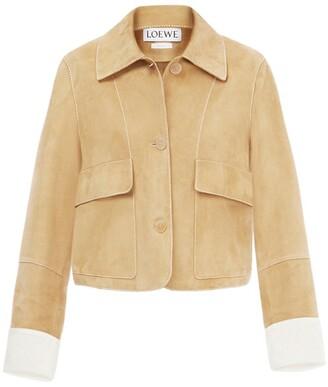 Loewe Cropped Suede Jacket