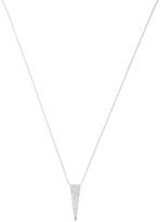 Janis Savitt Women's 18K White Gold & 0.21 Total Ct. Diamond Triangle Pendant Necklace