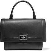 Givenchy Small Shark Bag In Black Textured-leather - one size