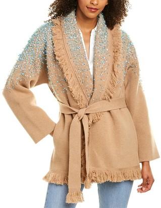 Alanui Rainy Day In Los Angeles Silk-Trim Wool & Cashmere-Blend Cardigan