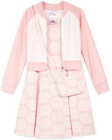Beautees 3-Pc. Floral Jacket, Dress & Purse, Toddler & Little Girls (2T-6X)
