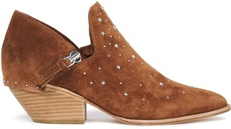 Sigerson Morrison Haile Studded Suede Ankle Boots