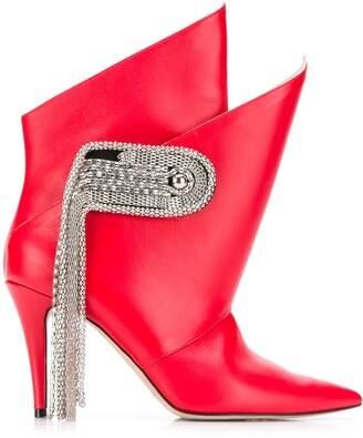 Christopher Kane Chain Brooch Boots