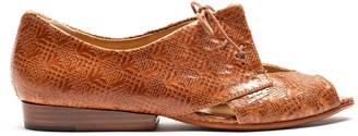 Tracey Neuls - PERRY Havana | Brown Motif Leather Flat Shoe - 36