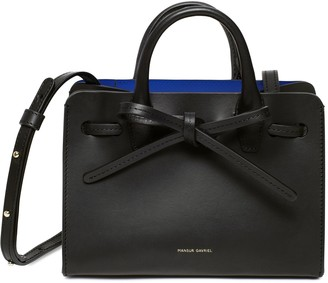 Mansur Gavriel Mini Mini Sun Bag - Black/Royal