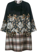 Antonio Marras floral and plaid print oversized coat