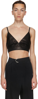 Helmut Lang Black Leather Bra Tank Top