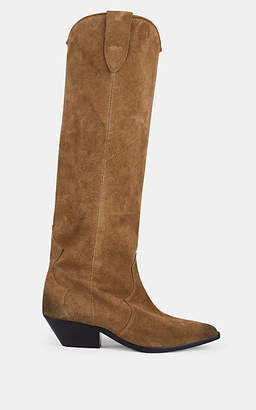 Isabel Marant Women's Denvee Suede Knee Boots - Taupe