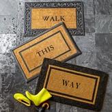 Williams-Sonoma Personalized Rubber Scroll & Coir Doormats