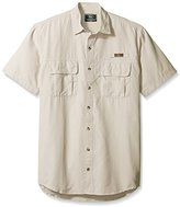 G.H. Bass Men's Big and Tall Short Sleeve Explorer Solid Fishing Shirt