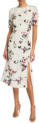 Altuzarra Floral-Print Silk Dress