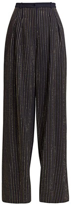 Michael Kors Crystal Pinstripe Wide Leg Pants