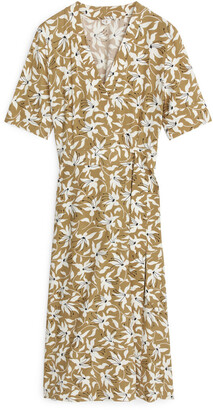 Arket Printed Wrap Dress
