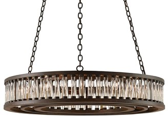Pottery Barn Lana Crystal Round Chandelier