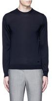 Armani Collezioni Wool crew neck sweater