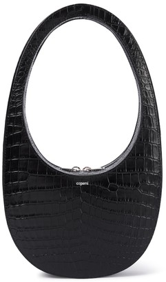 Coperni Swipe croc-effect leather tote