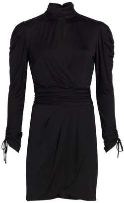 JONATHAN SIMKHAI STANDARD Mockneck Mini Dress