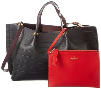 Valentino Vchain Medium Leather Tote