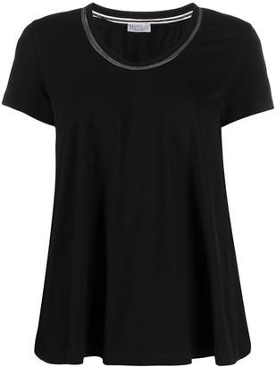 Brunello Cucinelli embellished neckline T-shirt