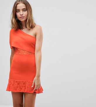 ASOS Scuba Bodycon Dress with Flippy Hem