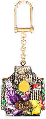 Gucci Floral Airpod Case in Beige Ebony & Multicolor | FWRD