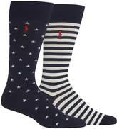 Polo Ralph Lauren Men's Big & Tall 2-Pk. Stars & Stripes Socks
