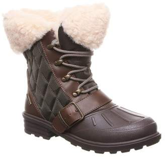 BearPaw Detla Quilted Nylon Fleece Lined Weather Resistant Boot