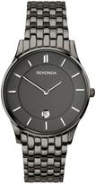 Sekonda Sekonda Black Dial Black Plated Stainless Steel Braclet Mens Watch
