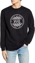 Vans Checker Long Sleeve Logo Graphic Tee