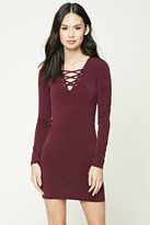 Forever 21 Lace-Up Bodycon Dress