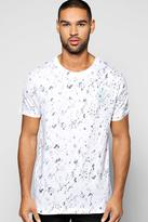 Boohoo Stay True Textured Sublimation T Shirt