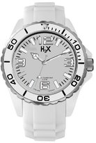 Haurex H2X Women's SW382DW1 Reef Luminous Water Resistant White Soft Rubber Watch