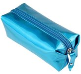 sea-junop Stationery Pencil Pouch Pencil Case Makeup Brush Pouch with Zipper (Blue)