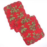 St. Nicholas Square® Quilted Holly Table Runner - 54""